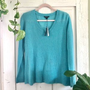James Perse Blue Cashmere Sweater Small